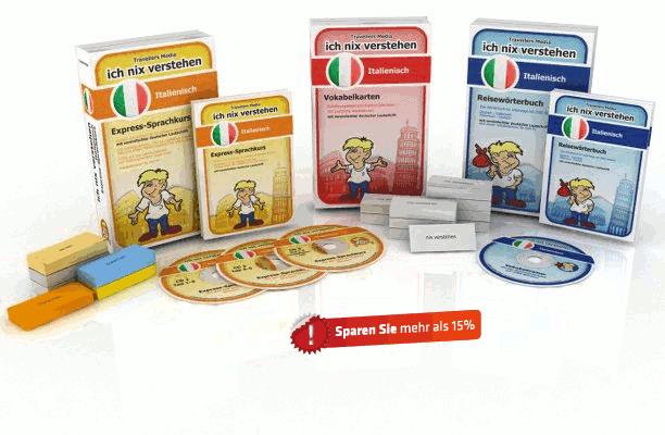 Italienische Sprache Komplettpaket