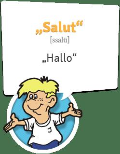 Französisch lernen | Begrüßung Französisch | Hallo - Salut